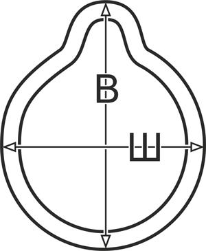 Габариты контура В=8см, Ш=6,8см